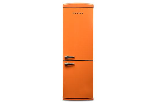 350 LT No-Frost Buzdolabı RETRO NFK3501 Turuncu Buzdolapları Modelleri ve Fiyatları | Vestel