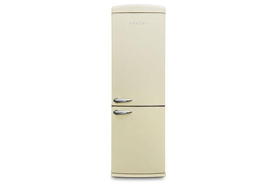 350 LT No-Frost Buzdolabı RETRO NFK3501 Bej Retro Buzdolabı Modelleri ve Fiyatları | Vestel