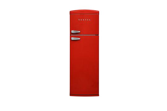 RETRO SC32001 KIRMIZI Statik Buzdolabı Buzdolapları Modelleri ve Fiyatları | Vestel
