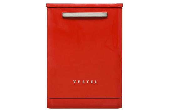 Vestel BM-500 Retro Kırmızı Bulaşık Makinesi