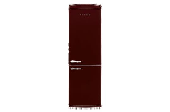 350 LT A+ No-Frost Buzdolabı RETRO NFK350 BORDO