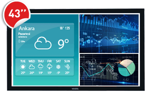 """Vestel 43"""" SOC 400 NitsBilgilendirme Ekranı"""